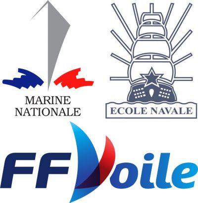 GPEN logos organisateurs : Marine nationale, Ecole navale, Fédération française de voile